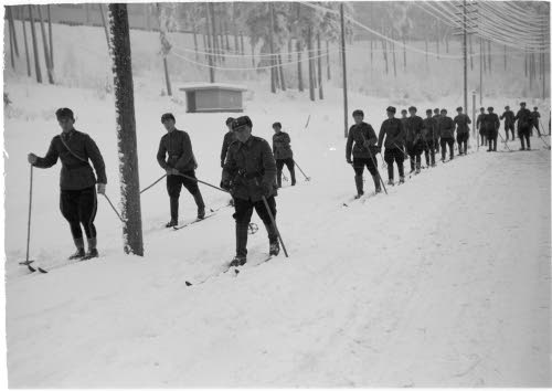 Caminata de soldados